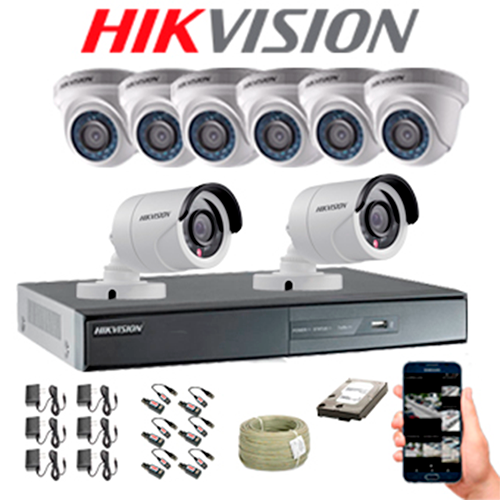 KIT CCTV HIKVISION DVR TURBO 16CH KIT-4 | Hikvision Colombia